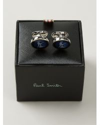 Paul Smith Blue Naked Lady Cufflinks for men