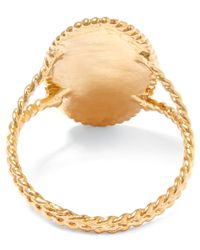 Alex Monroe - Metallic Gold-plated Oval Snowdrop Cameo Ring - Lyst