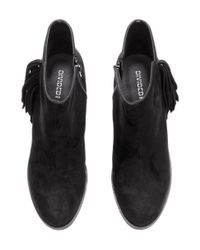 H&M Black Ankle Boots With Fringes