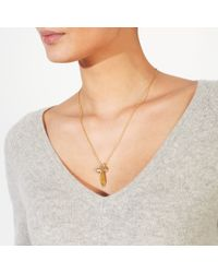 John Lewis - Metallic 18ct Gold Plated Pearl And Rainbow Moonstone Pendant Necklace - Lyst