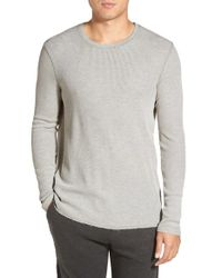 Michael Stars | Gray Long Sleeve Waffle Knit Thermal T-shirt for Men | Lyst