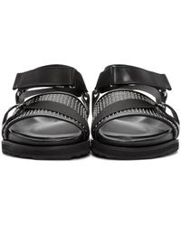 Alexander McQueen - Black Studded Strap Sandals for Men - Lyst