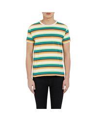 Saint Laurent | Blue Men's Striped Jersey T-shirt for Men | Lyst