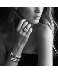 David Yurman | Metallic Waverly Ring with Diamonds and Gold | Lyst