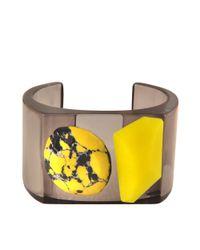 Stella McCartney Yellow Plexi Stones Cuff Bangle