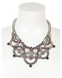 Ziio - Metallic Couture Necklace - Lyst