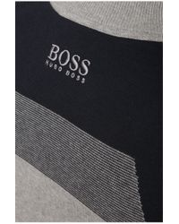 BOSS Green | Gray Sweater 'zelchior_pro' In Functional Fabric for Men | Lyst