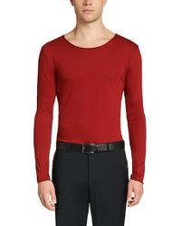 HUGO - Red Loose Fit Long-sleeved Shirt In Cotton: 'doops' for Men - Lyst