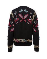 Zuhair Murad - Black Butterfly Applique Sweater - Lyst