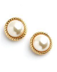 Kate Spade | Metallic Seaport Pearl Stud Earrings | Lyst