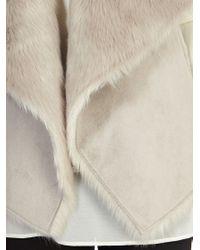 Coast Gray Helsinki Faux Fur Gilet