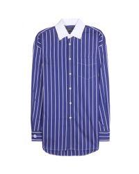 Polo Ralph Lauren | Blue Striped Cotton Shirt | Lyst