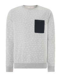 Blend | Gray Pattern Crew Neck Pull Over Jumper for Men | Lyst
