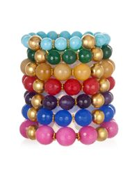 Wendy Mink | Blue Colored Stackable Bracelets | Lyst