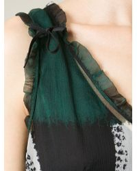 Marni - Green Checked Dress - Lyst