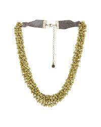 White Stuff | Metallic Mossy Short Necklace | Lyst
