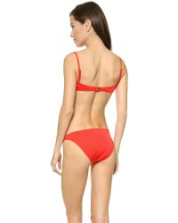 MILLY Red Italian Solid Maxime Underwire Bikini Top - Royal