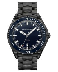Emporio Armani - Black Automatic Bracelet Watch for Men - Lyst