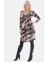 Everly Grey | Brown 'ava' V-neck Maternity Dress | Lyst