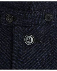 A.P.C. - Blue Navy Single Breasted Tweed Trench Coat - Lyst