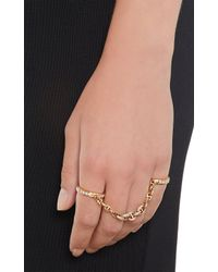 Hoorsenbuhs | Metallic Diamond Rose Gold Bonded Ring | Lyst