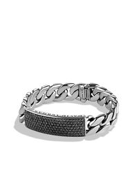David Yurman - Metallic Curb Chain Id Bracelet for Men - Lyst