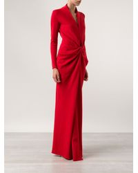 Lanvin Red Jersey Long Gown
