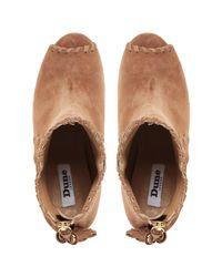 Dune Brown Primrose Block Heeled Shoe Boots
