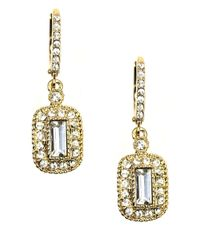 Givenchy | Metallic Goldtone Crystal Drop Earrings | Lyst