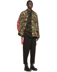 Off-White c/o Virgil Abloh - Green Camouflage Pullover for Men - Lyst