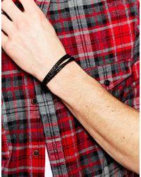 Paul Smith | Black Wraparound Bracelet for Men | Lyst