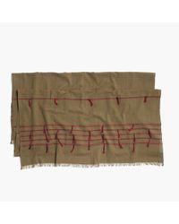 Madewell - Gray Striped Tassel Scarf - Lyst