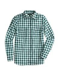 J.Crew - Green Gingham Utility Shirt - Lyst