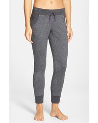 The North Face - Gray Cotton Blend Sweatpants - Lyst
