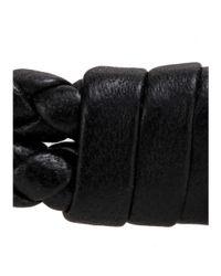 Bottega Veneta | Black Knot Woven Leather Bracelet | Lyst