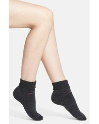 Calvin Klein | Gray Padded Terry Cuff Ankle Socks | Lyst