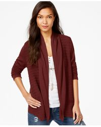 Lucky Brand | Red Lucky Brand Long-sleeve Contrast Cardigan | Lyst