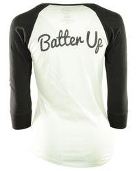 47 Brand White Women's Arizona Diamondbacks Batter Up Raglan T-shirt