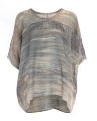 Raquel Allegra Natural Beige Marbled Tie-dye T-shirt