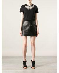 Alexander McQueen Black Bead Embellished T-Shirt