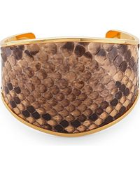 Marni | Pink Leather Python Bangle - For Women | Lyst