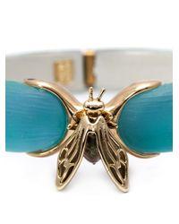 Alexis Bittar | Blue Iridescent Bee Bangle | Lyst