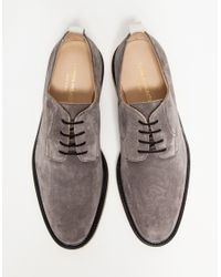 Common Projects - Gray Cadet Derby In Dark Grey Suede for Men - Lyst
