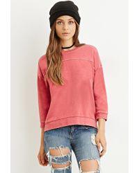 Forever 21 | Red Paneled Sweatshirt | Lyst