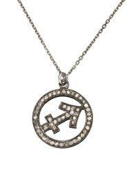 Laura Lee | Metallic Silver Diamond Sagittarius Necklace | Lyst