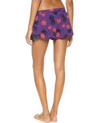 Juicy Couture Multicolor Moroccan Rose Shorts Moroccan