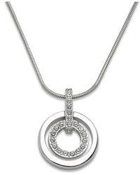 Swarovski | Metallic Crystal Double Circle Pendant | Lyst