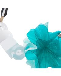 Trina Turk | Blue Pvc Flower Necklace | Lyst
