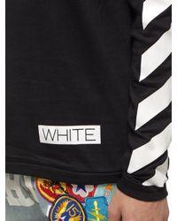 Off-White c/o Virgil Abloh Black Striped Long Sleeve T-Shirt for men