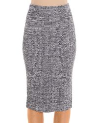 Theory - Blue Knit Skirt - Lyst